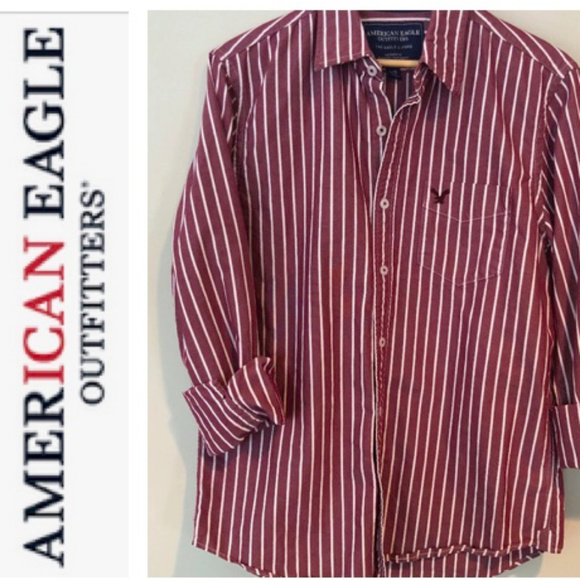 8f3e400d American Eagle Outfitters Shirts | American Eagle Mens Striped ...